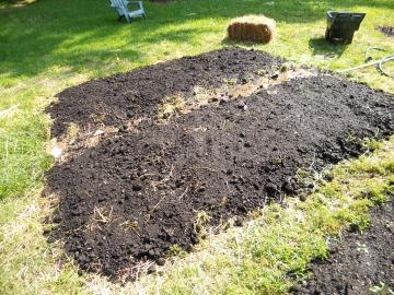 Piled Raised Bed Garden