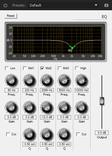 EQ Filter Settings