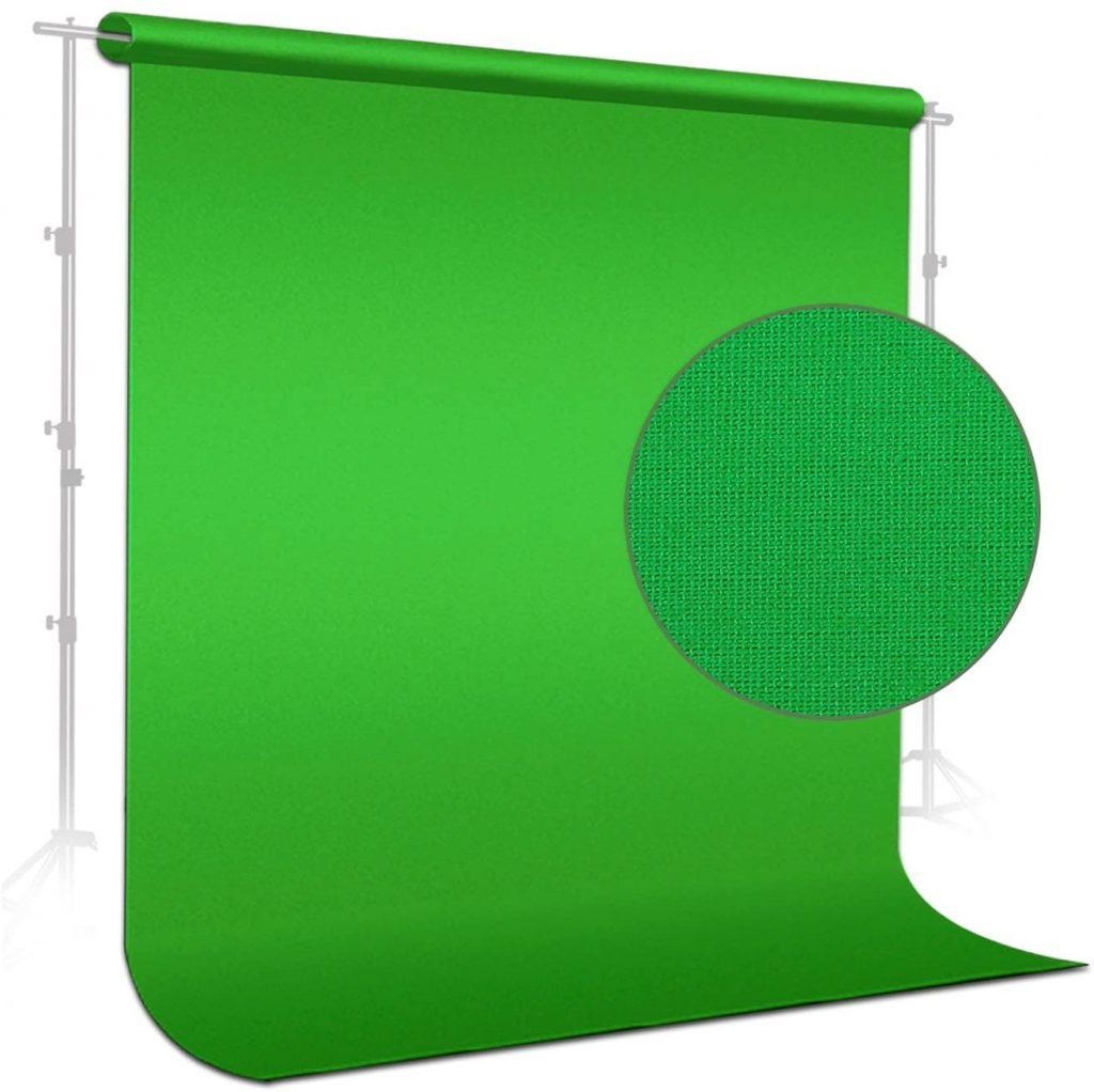 LimoStudio 6 x 9 ft. Green Muslin Backdrop