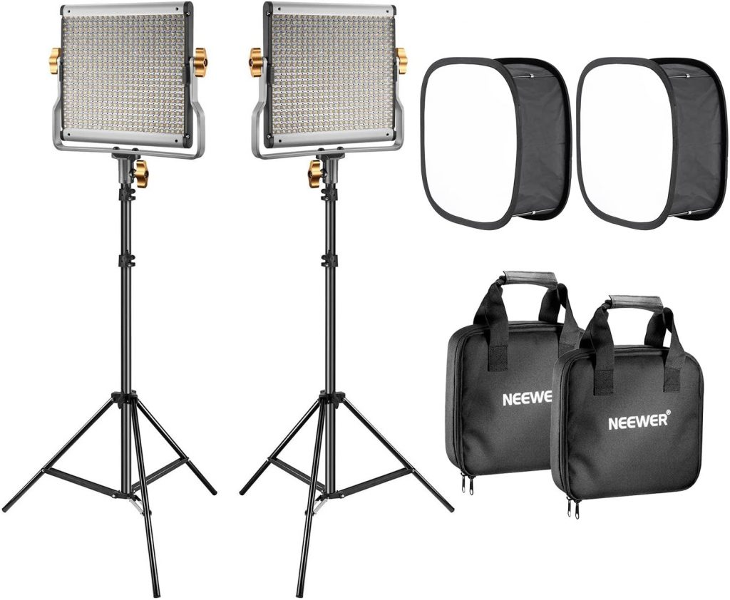 Neewer 2-Pack 480 LED Video Light Lighting Kit with Softboxes